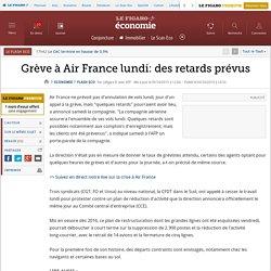 Grève à Air France lundi: des retards prévus