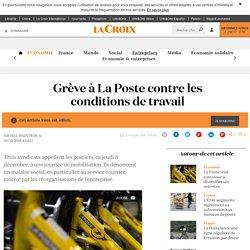Grève à La Poste contre les conditions de travail - La Croix