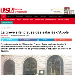 La grève silencieuse des salariés d'Apple