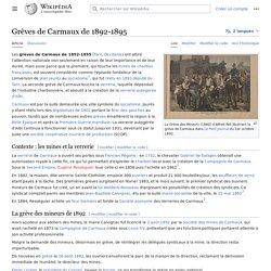 Grèves de Carmaux de 1892-1895