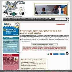 Soutien aux grévistes de la faim pour un avenir possible cyberaction
