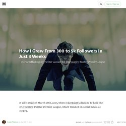 How I grew from 300 to 5k followers in just 3 weeks