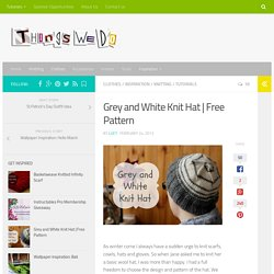 Free Pattern - Things We Do Blog