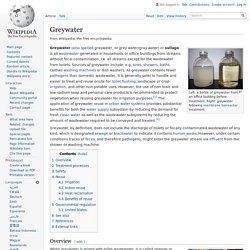 Greywater - Wikipedia