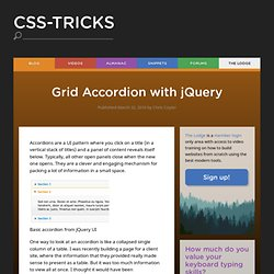 Grid Accordion with jQuery