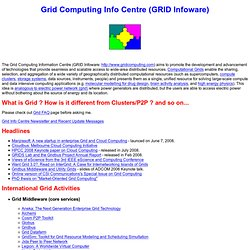 Grid Computing Info Centre