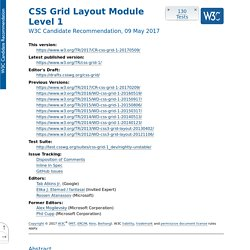 CSS Grid Positioning Module Level 3