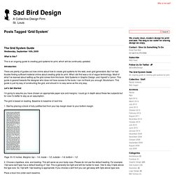 Grid System | Sad Bird Design