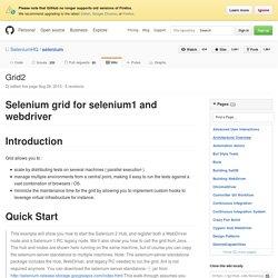 Grid2 · SeleniumHQ/selenium Wiki
