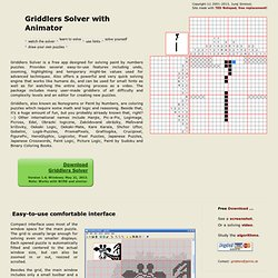 Griddlers Solver with Animations - Solve puzzles or watch them being naturally solved - Aurora