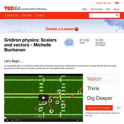 Gridiron physics: Scalars and vectors - Michelle Buchanan