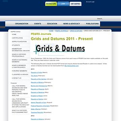 Grids and Datums 2011 - Present