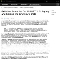 GridView Examples for ASP.NET 2.0: Paging and Sorting the GridView's Data