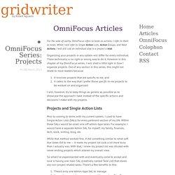 OmniFocus Articles