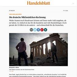 Griechenland-Krise: Die deutsche Milchmädchen-Rechnung - Deutschland