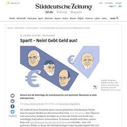 Griechenland:Wie sich deutsche und US-Ökonomen streiten