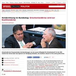 Sondersitzung im Bundestag: Griechenlandkrise wird zur Koalitionskrise