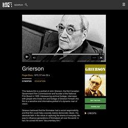 Grierson by Roger Blais
