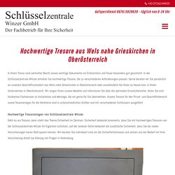 Tresore aus Wels nahe Grieskirchen in Oberösterreich