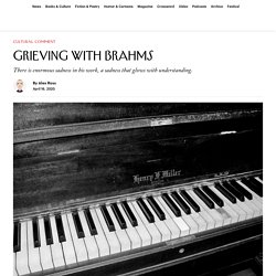 Grieving with Brahms After a Mother's Death
