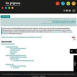 Les Grignoux - Dossiers pédagogiques - Comment parler d'un film