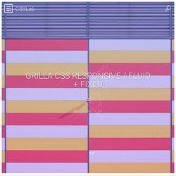 Grilla CSS Responsive / Fluid + Fixed