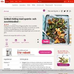 Grillad röding med sparris- och zucchinisallad