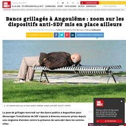Bancs grillagés à Angoulême: zoom sur les dispositifs anti-SDF mis en place ailleurs - Sud Ouest.fr
