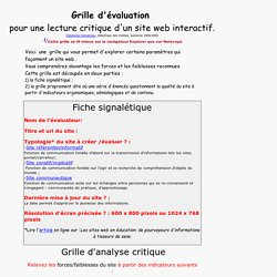Grille d'analyse critique