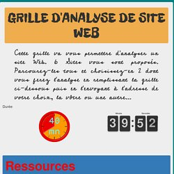 Grille d'analyse de site Web