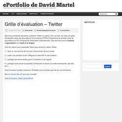 Usages p dagogiques twitter pearltrees - Comment faire une grille d evaluation ...