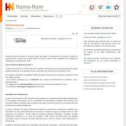 Grille Huma-Num : un service dédié aux SHS