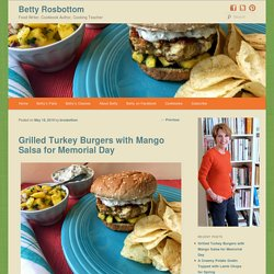 Grilled Turkey Burgers with Mango Salsa for Memorial Day