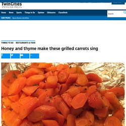 Grilled carrot recipe with honey and thyme