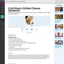 Café Muse's Grilled Cheese Sandwich