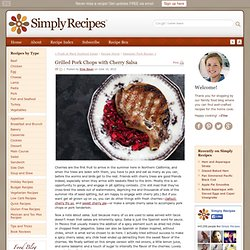 Grilled Pork Chops with Cherry Salsa Recipe