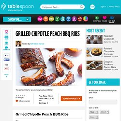 Grilled Chipotle Peach BBQ Ribs recipe