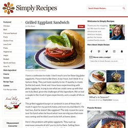 Grilled Eggplant Sandwich Recipe