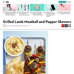 Best Grilled Lamb Meatball and Pepper Skewers Recipe - How To Make Grilled Lamb Meatball and Pepper Skewers