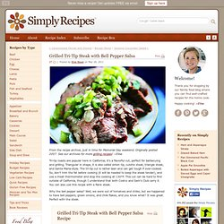Grilled Tri-Tip Steak with Bell Pepper Salsa Recipe
