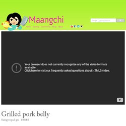 Grilled pork belly BBQ (Samgyeopsal-gui) recipe