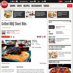 Grilled BBQ Short Ribs Recipe : Guy Fieri