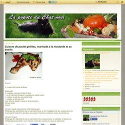 Cuisses de poulet grillées, marinade à la moutarde et au basilic - les recettes de cuisine du chat noir