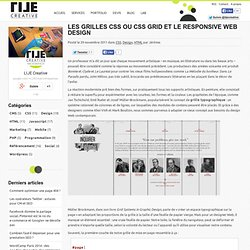 Les grilles CSS ou CSS grid et le Responsive Web Design