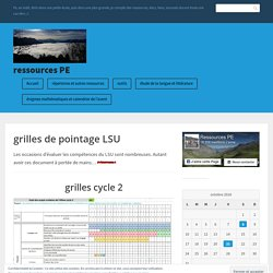 grilles de pointage LSU – ressources PE