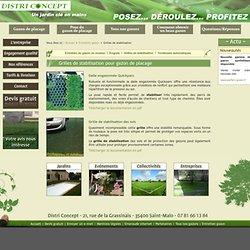 Grilles de stabilisation pour gazon de placage - gazon en rouleau - Bretagne