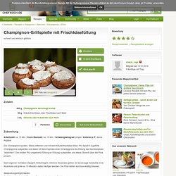 Champignon-Grillspieße mit Frischkäsefüllung