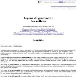 Leçons de grammaire