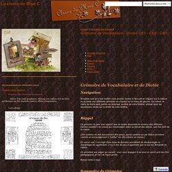 Grimoire de Vocabulaire - Dictée CE1 - CE2 - CM1 - La classe de Mme C