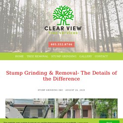 Stump Grinding & Removal- The Details of the Difference